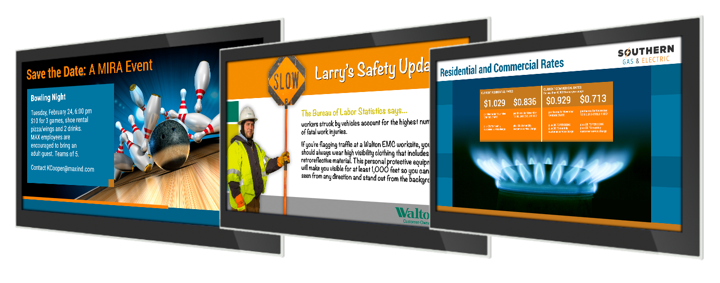 digital signs in manufacturing facilities educate and inform employees